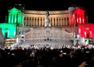 Presidio di sicurezza in occasione della manifestazione nazionale relativa al 150° dell'Unità d'Italia.