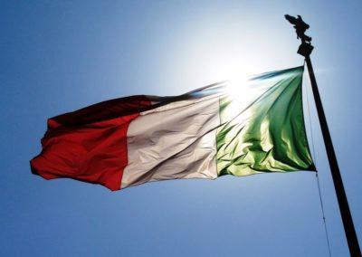 Bicentenario della Bandiera Tricolore Italiana tenutasi a Roma presso il palazzetto dello sport dell'Eur,